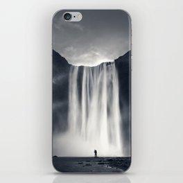 Stormy Skogafoss iPhone Skin