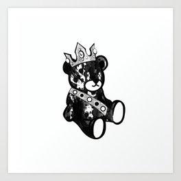 Bear King Splash Art Print