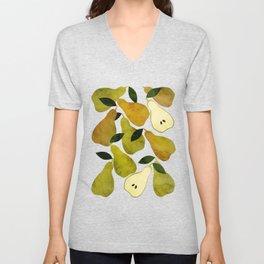 mediterranean pears watercolor Unisex V-Neck