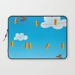 Clouds and Birds Laptop Sleeve