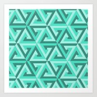 lv Art Prints featuring Geometrix LV by Harvey Warwick