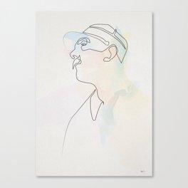 One line Jour de Fete (Jacques Tati) Canvas Print