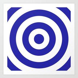 Target (Navy Blue & White Pattern) Art Print