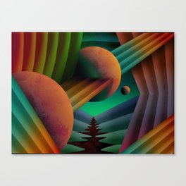Planet Path Canvas Print