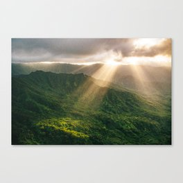 Oahu Afternoon Sunset Rays Canvas Print