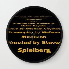 E.T. cast & Crew Wall Clock