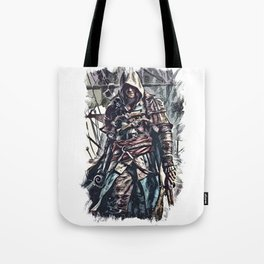 Pirate king of the seas / Fan Art Abstract Portrait Tote Bag