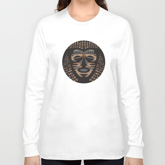 African Tribal Mask No. 1 Long Sleeve T-shirt
