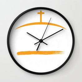 1 Cross + 3 Nails = 4Given Forgiven Christian Wall Clock