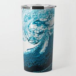 Ocean Wave Acrylic Pour Travel Mug