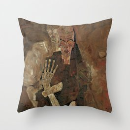 Self-Seer II (Death and Man) by Egon Schiele (1911) Throw Pillow