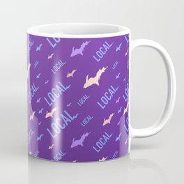 Upper Peninsula Local Violet Pattern Coffee Mug