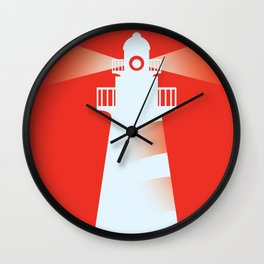 Lighthouse (RED) Wall Clock