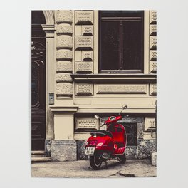 Red motorcycle Poster