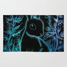 Interstellar rabbit Rug