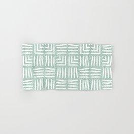 Velvety Tribal Weave Reverse in Green Hand & Bath Towel