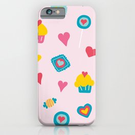 Pink sweet love  iPhone Case