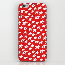Stars on red background iPhone Skin
