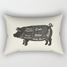 PORK BUTCHER DIAGRAM (pig) Rectangular Pillow