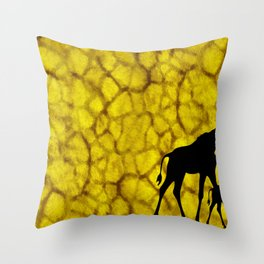Giraffiti Throw Pillow