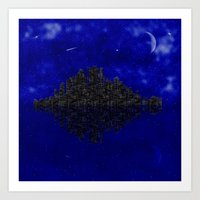 skyline Art Prints featuring Skyline by Mi Nu Ra