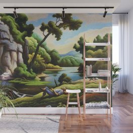 Classical Masterpiece 'Cave Spring' by Thomas Hart Benton Wall Mural