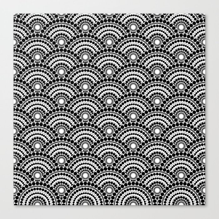 BLACK AND WHITE GEOMETRIC (abstract) Canvas Print