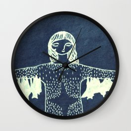 inverted hanging with friends Wall Clock