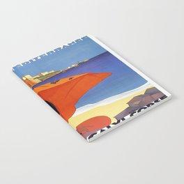Vintage poster - La Plage de Calvi, La Corse, France Notebook