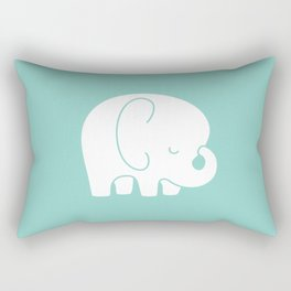 Mod Baby Elephant Teal Rectangular Pillow