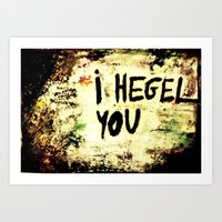 Hegel Art Print