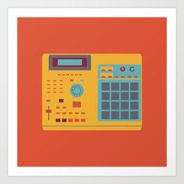 World of Stereo: Akai MPC 2000XL Art Print