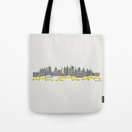 New York City Panoramic Tote Bag