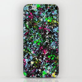 paint drop design - abstract spray paint drops 2 iPhone Skin