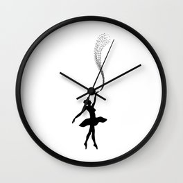 Ballet Dance Ballerina Dancing Gift Wall Clock