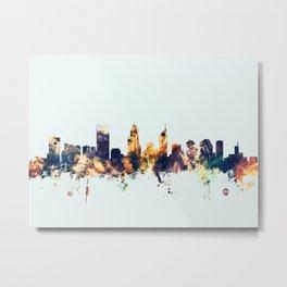 Perth Australia Skyline Metal Print