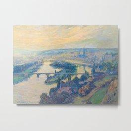 Václav Radimský (1867-1946) View of Rouen Impressionist Landscape Painting Bright Colors Oil Metal Print
