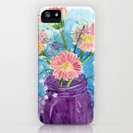 Gerbera & Gypsophila 2 iPhone Case