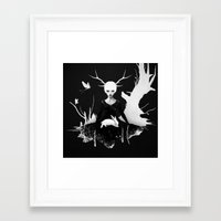 women Framed Art Prints featuring Space Within by Ruben Ireland