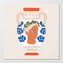 Greek Goddess Vase Canvas Print