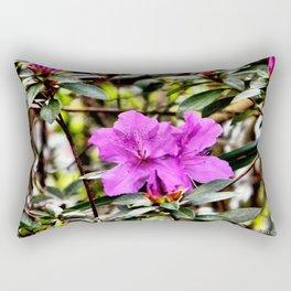 Violet in the Green Rectangular Pillow