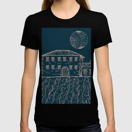 Italian Vintage Night - Countryside Landscape T-shirt