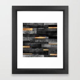 Urban Black & Gold Framed Art Print