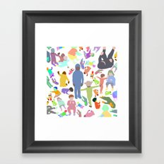 Color shape crowd Framed Art Print