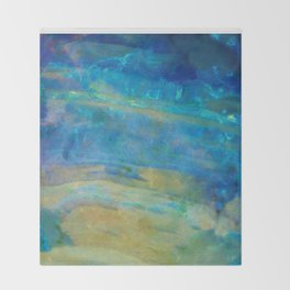 Sunrise Fire Opal Abstract Throw Blanket