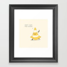 Don't hate the player Framed Art Print