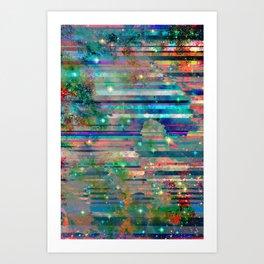 Space Glitch Art Print