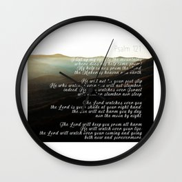 Psalm 121 Wall Clock