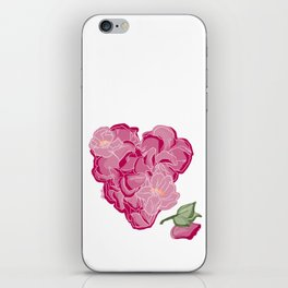 Heart of flowers iPhone Skin