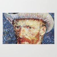 van gogh Area & Throw Rugs featuring Van Gogh  by klausbalzano